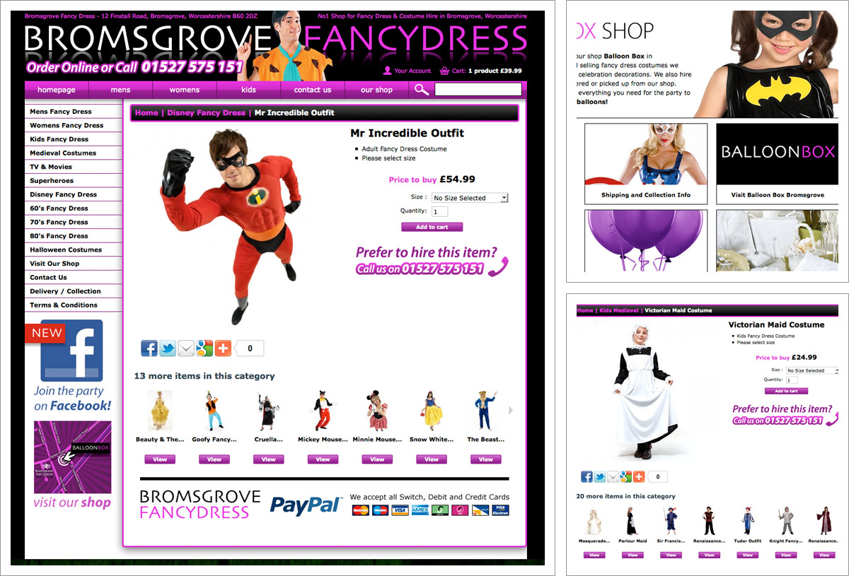 Bromsgrove Fancy Dress Website