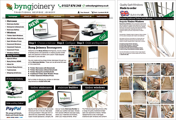 Byng Joinery Website
