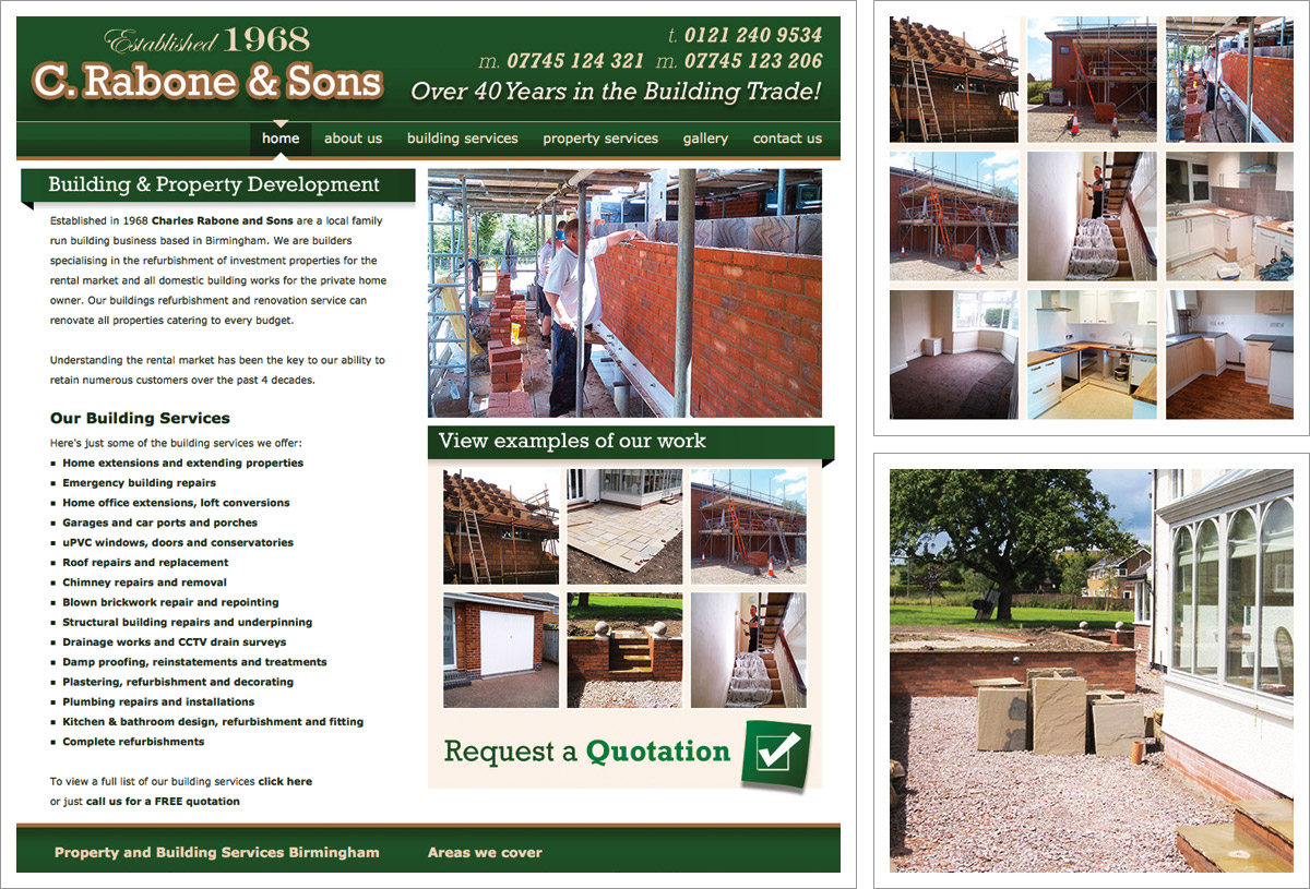 Charles Rabone and Sons Website
