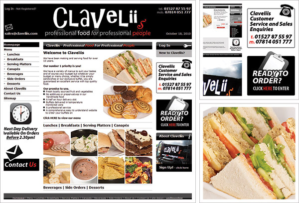 Claveliis Website
