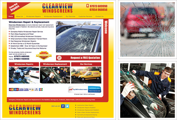 Clearview Windscreens New Website