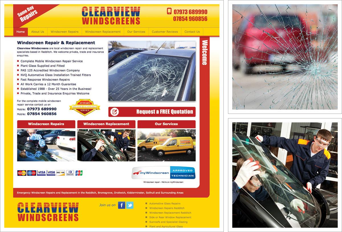 Clearview Windscreens Website