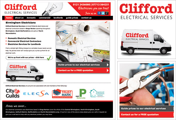 Clifford Electrical Services Website