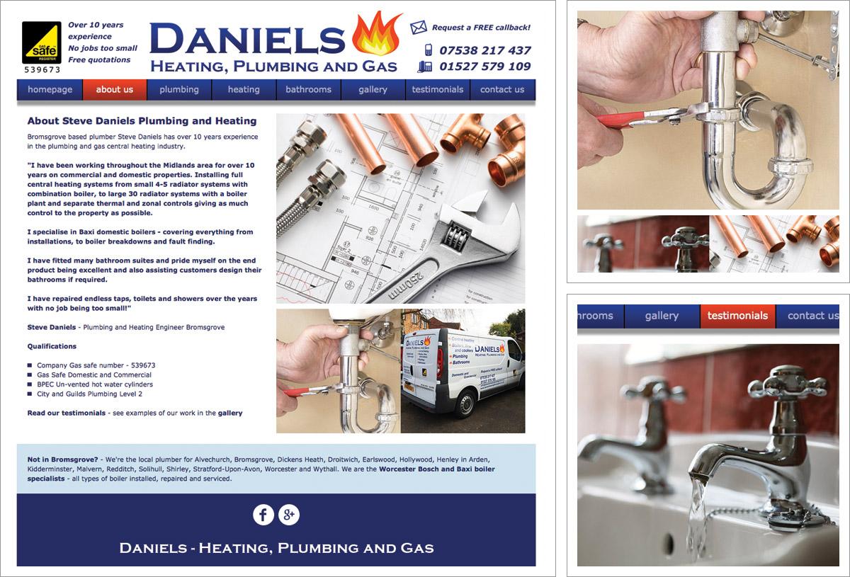 Daniels Heating Bromsgrove Website