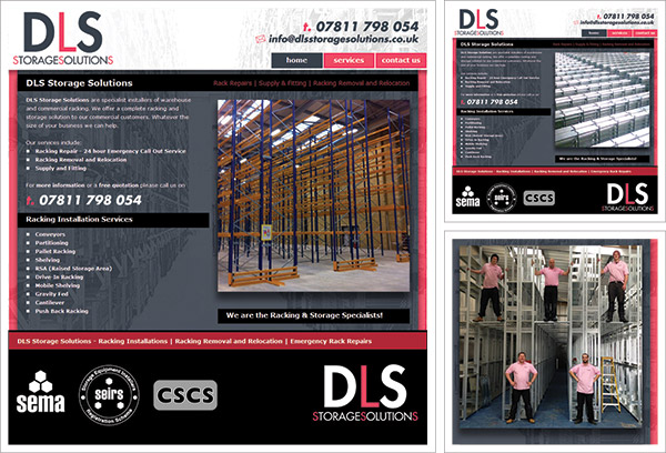 DLS Storage Solutions Website