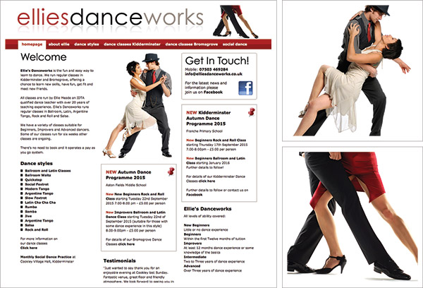 Ellies Dance Works Website