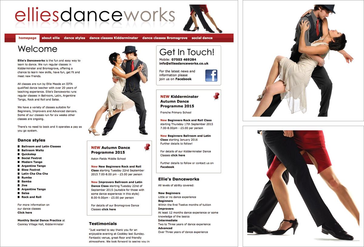 Ellies Dance Works Website