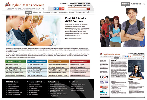 English and Maths Tuition Website