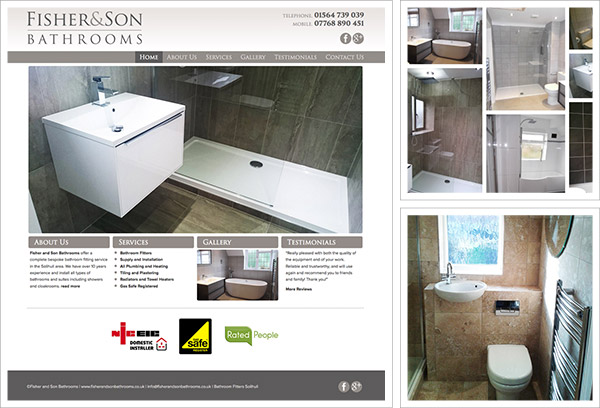 Fisher and Son Bathrooms Website