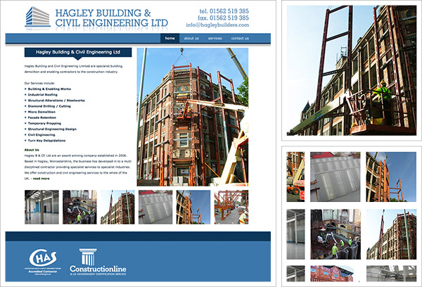 Hagley Builders Website