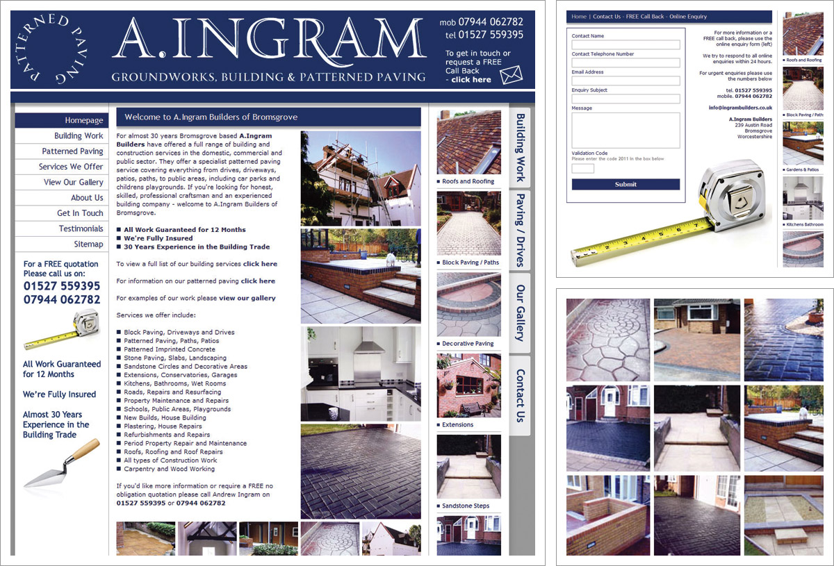 A Ingram Builders Website