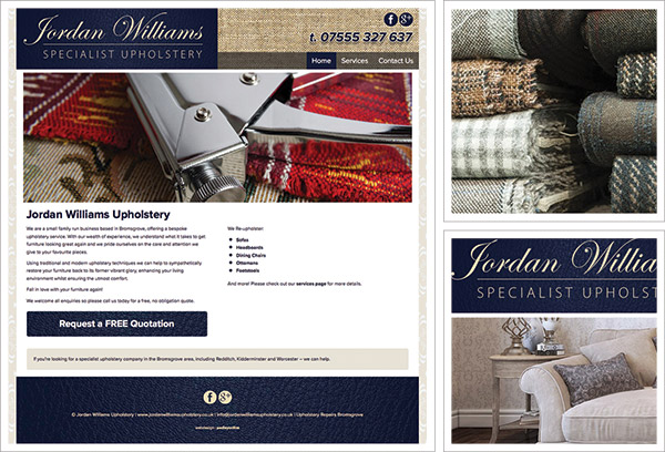 Jordan Williams Upholstery Website