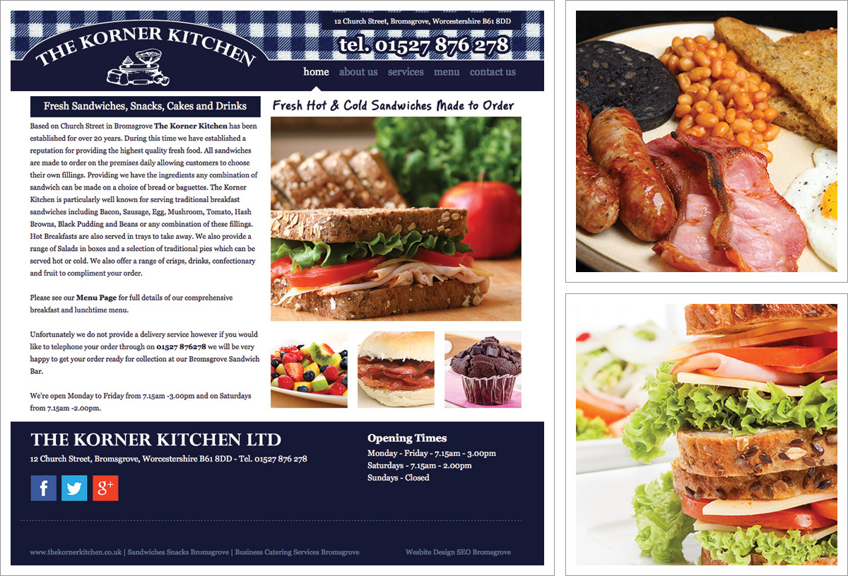 Html managed websites bromsgrove websites for small for Kitchen design korner