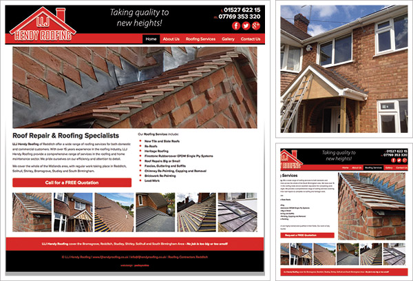 LLJ Hendy Roofing Website