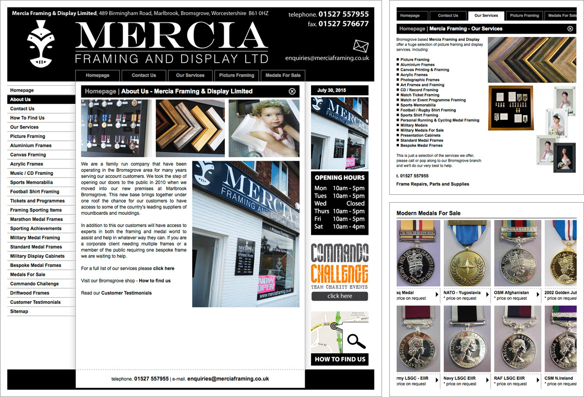 Mercia Framing Website