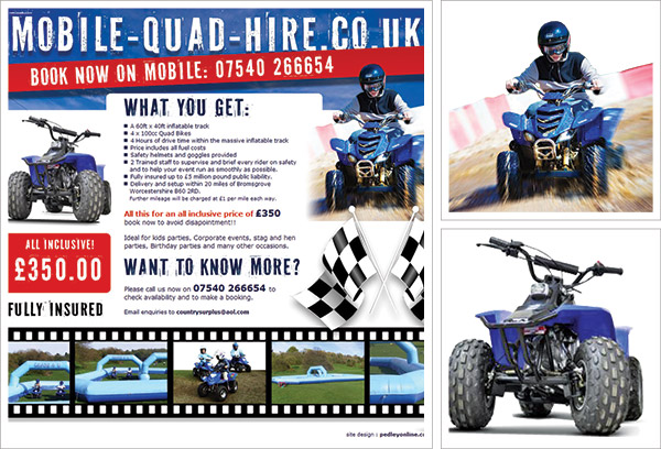 Mobile Quad Hire Website