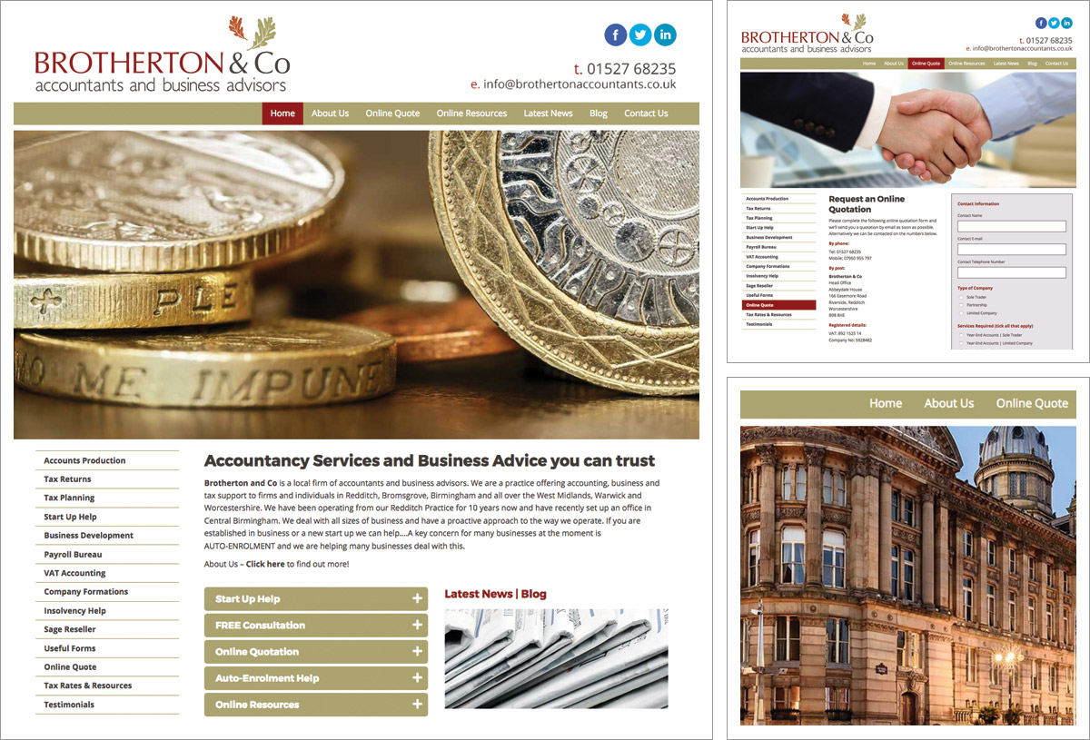 Brotherton Accountants Website