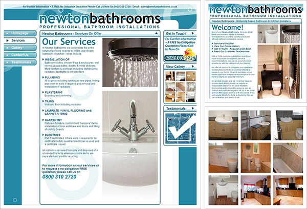 Newton Bathrooms Website
