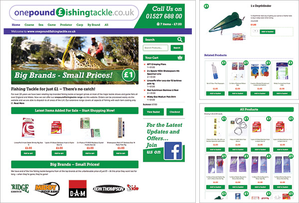 One Pound Fishing Tackle Website