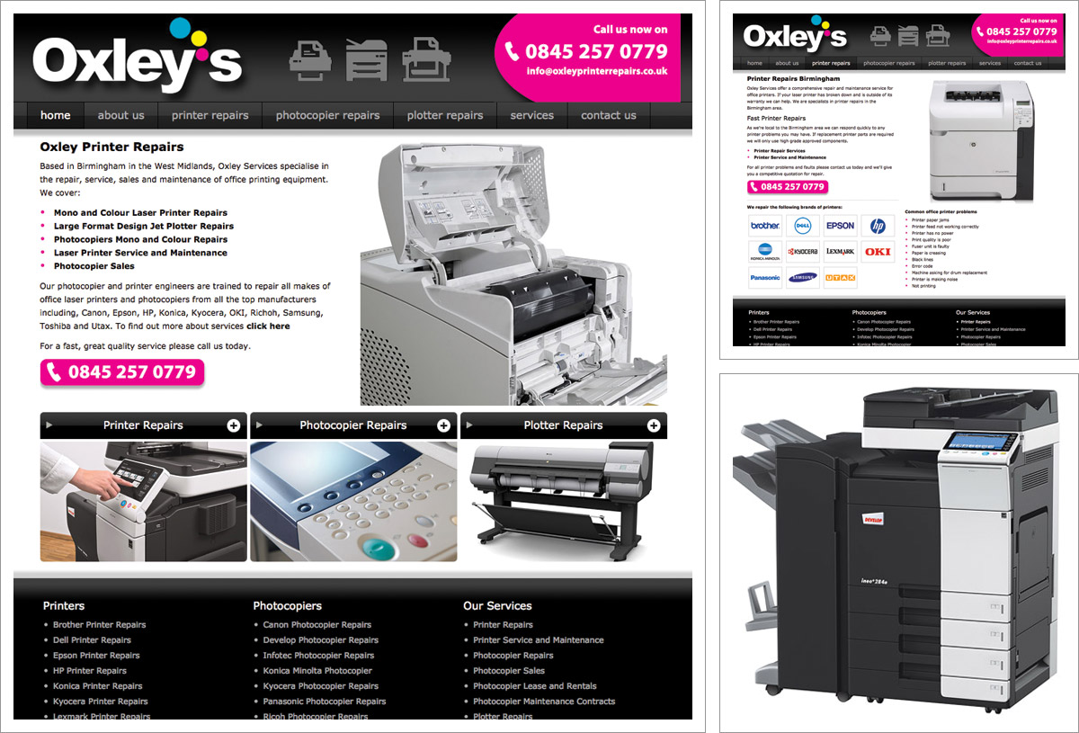 Oxleys Printer Repair Website