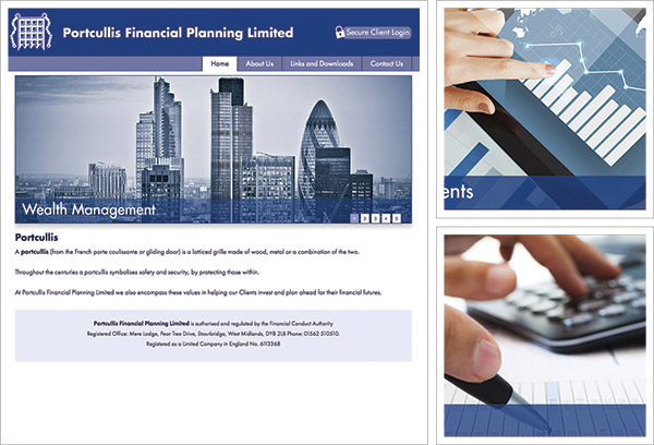 Portcullis Financial Planning Website