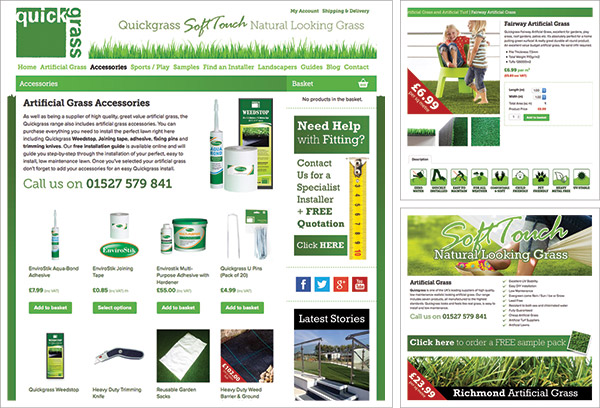 Quickgrass Artificial Grass Website
