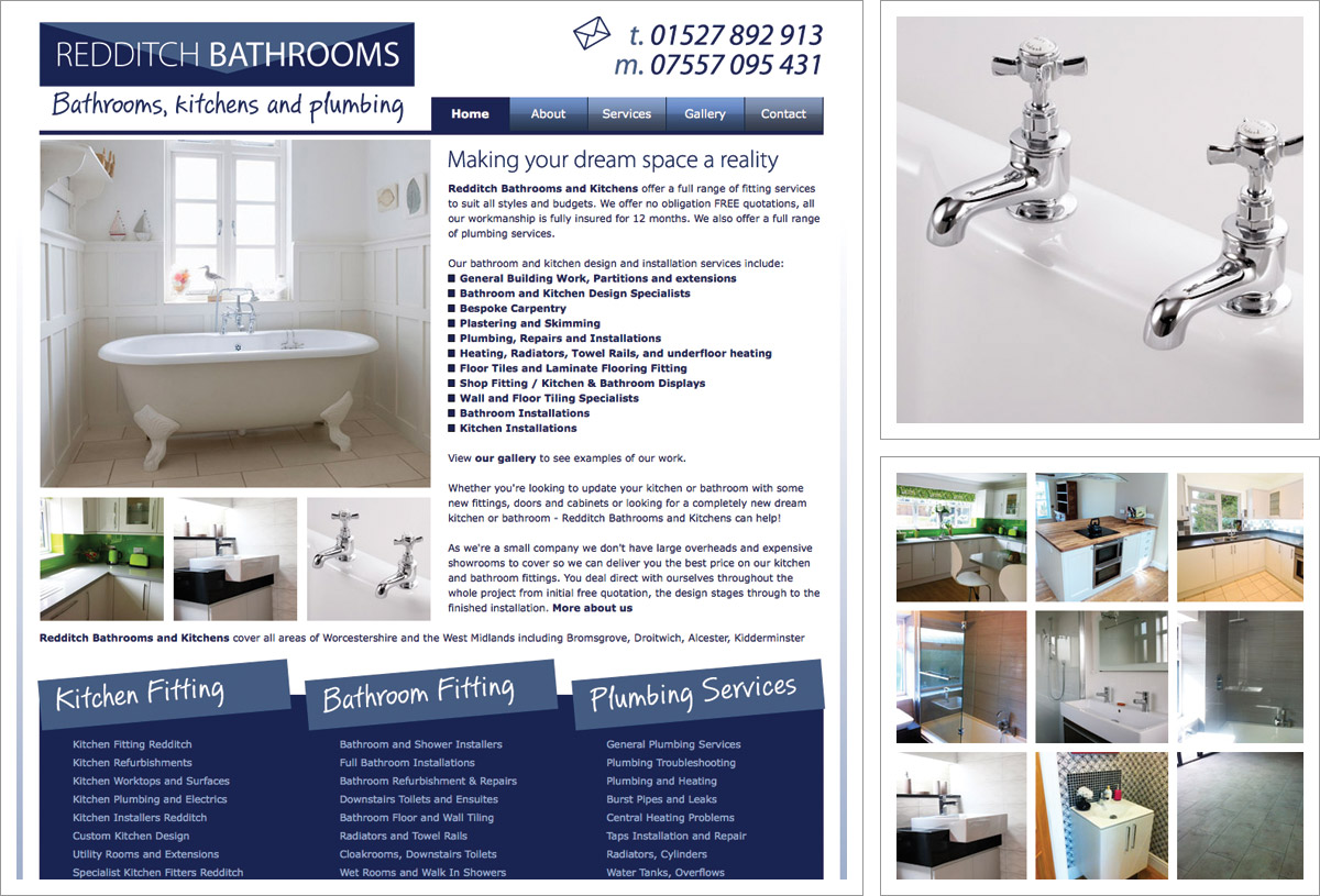 Redditch Bathrooms Website