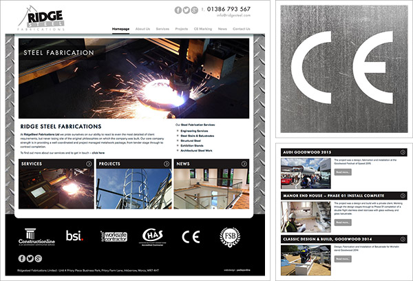Ridge Steel Website