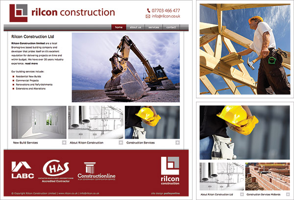 Rilcon Construction Website