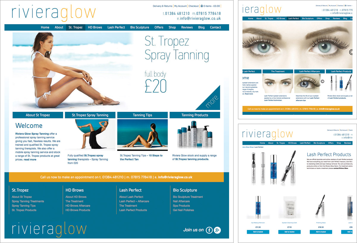 Riviera Glow Website