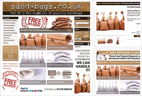 Sandbags e-Commerce Website