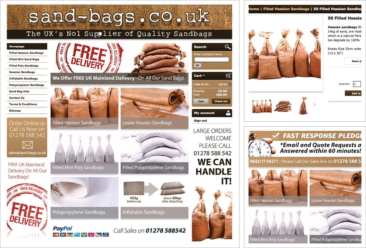 Sandbags e-Commerce Website