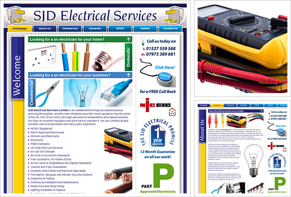 SJD Electrical Services Website