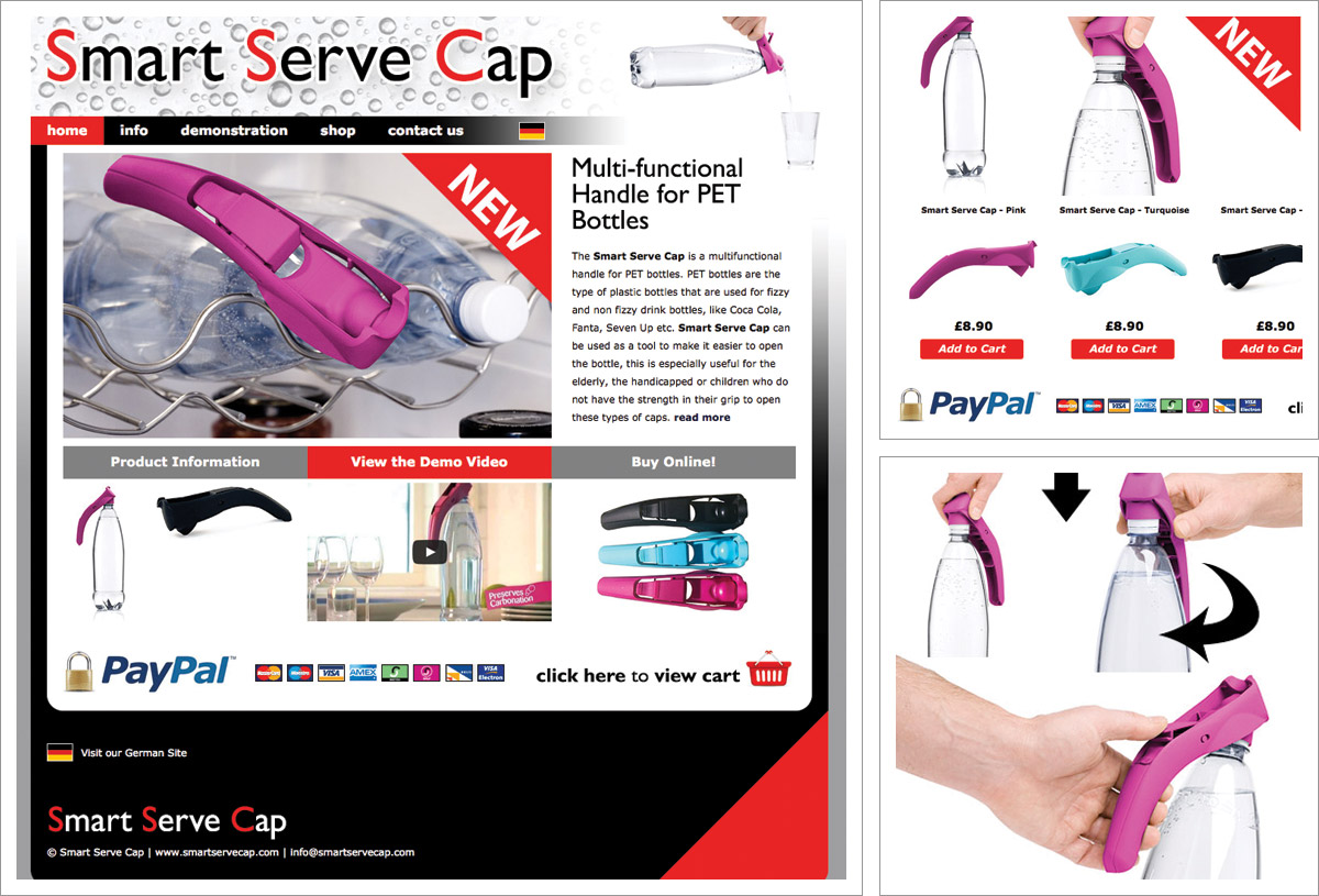 Smart Serve Cap Website