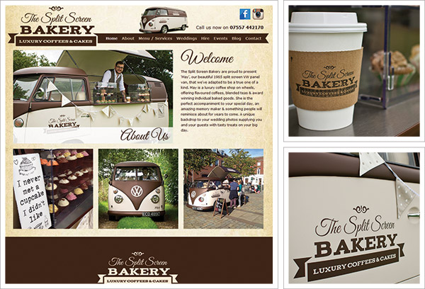 Split Screen Bakery Website