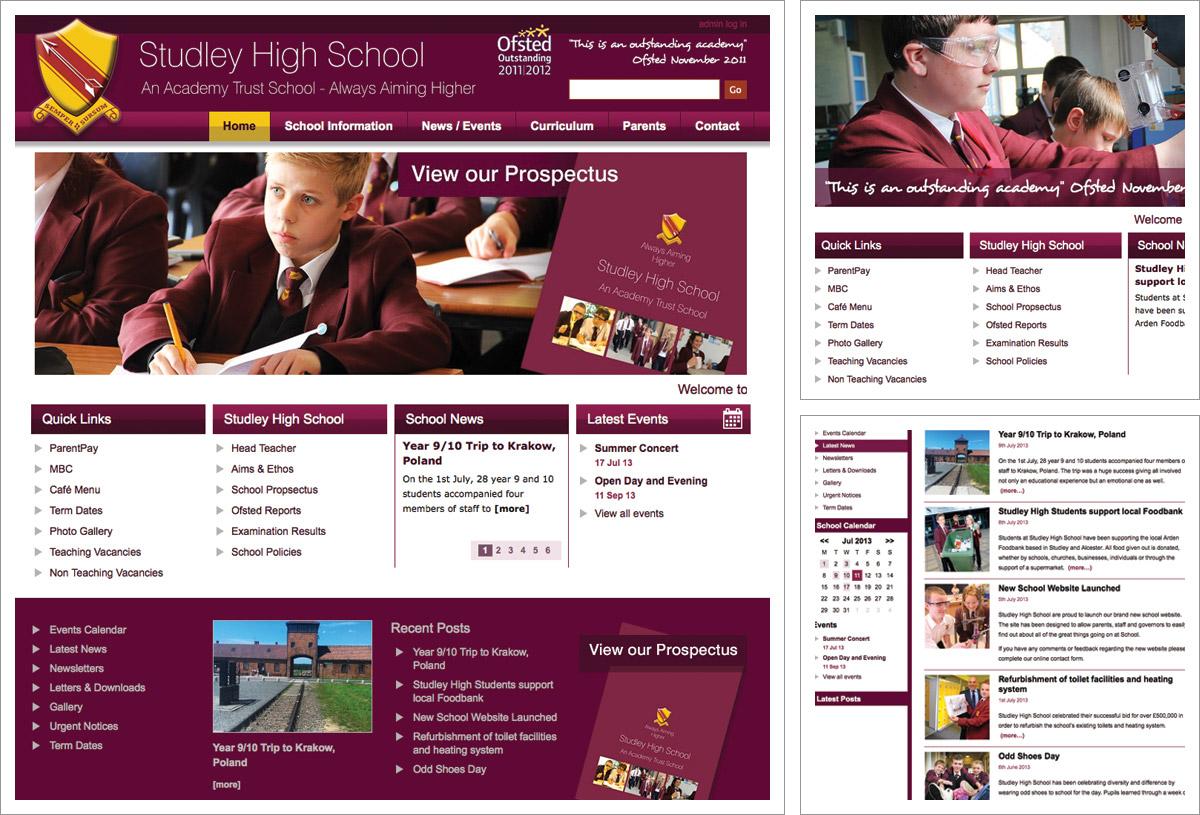 Studley High School Website