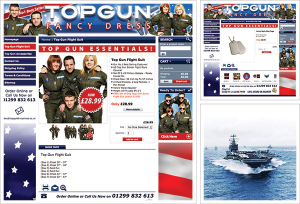 Top Gun Fancy Dress Website