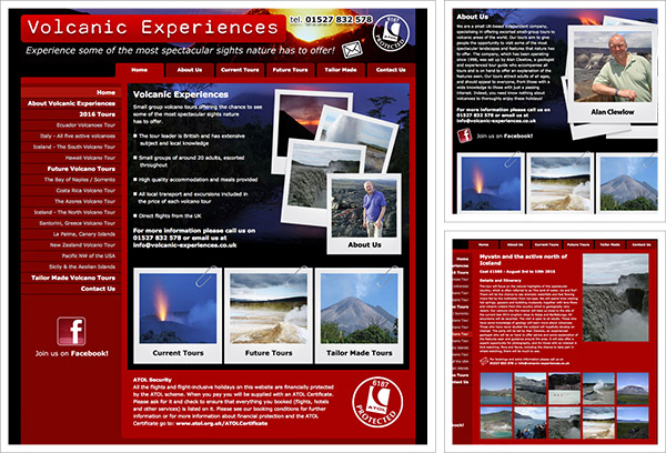 Volcanic Experiences Website