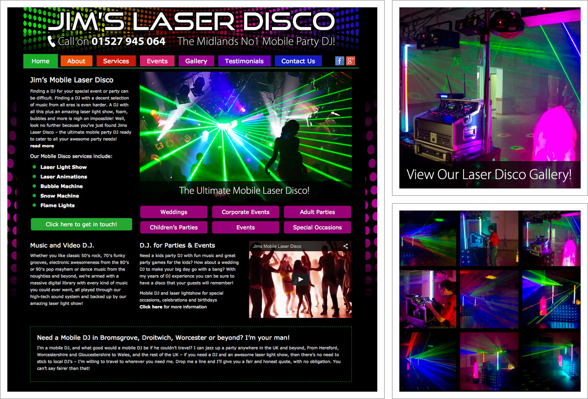 Jims Laser Disco Website
