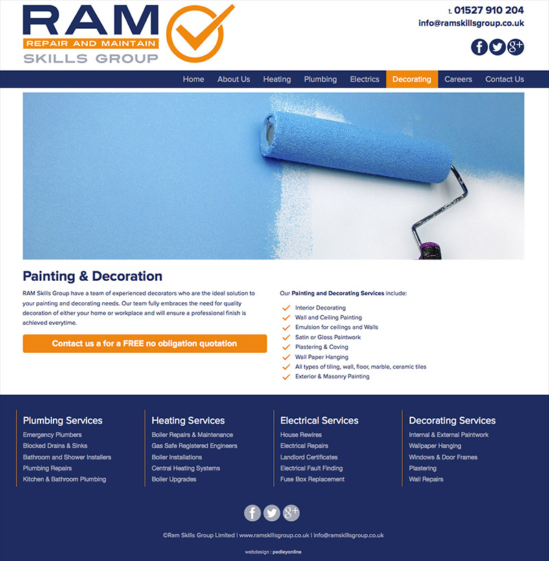 New responsive website for Ram Skills Group