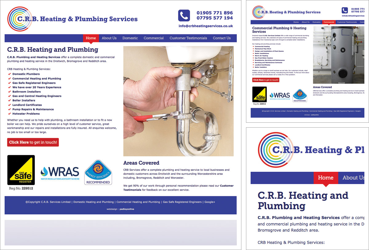 CRB Heating Services Website