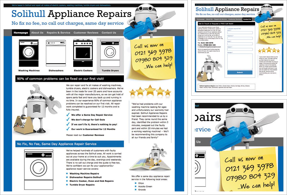 Solihull Appliance Repairs Website