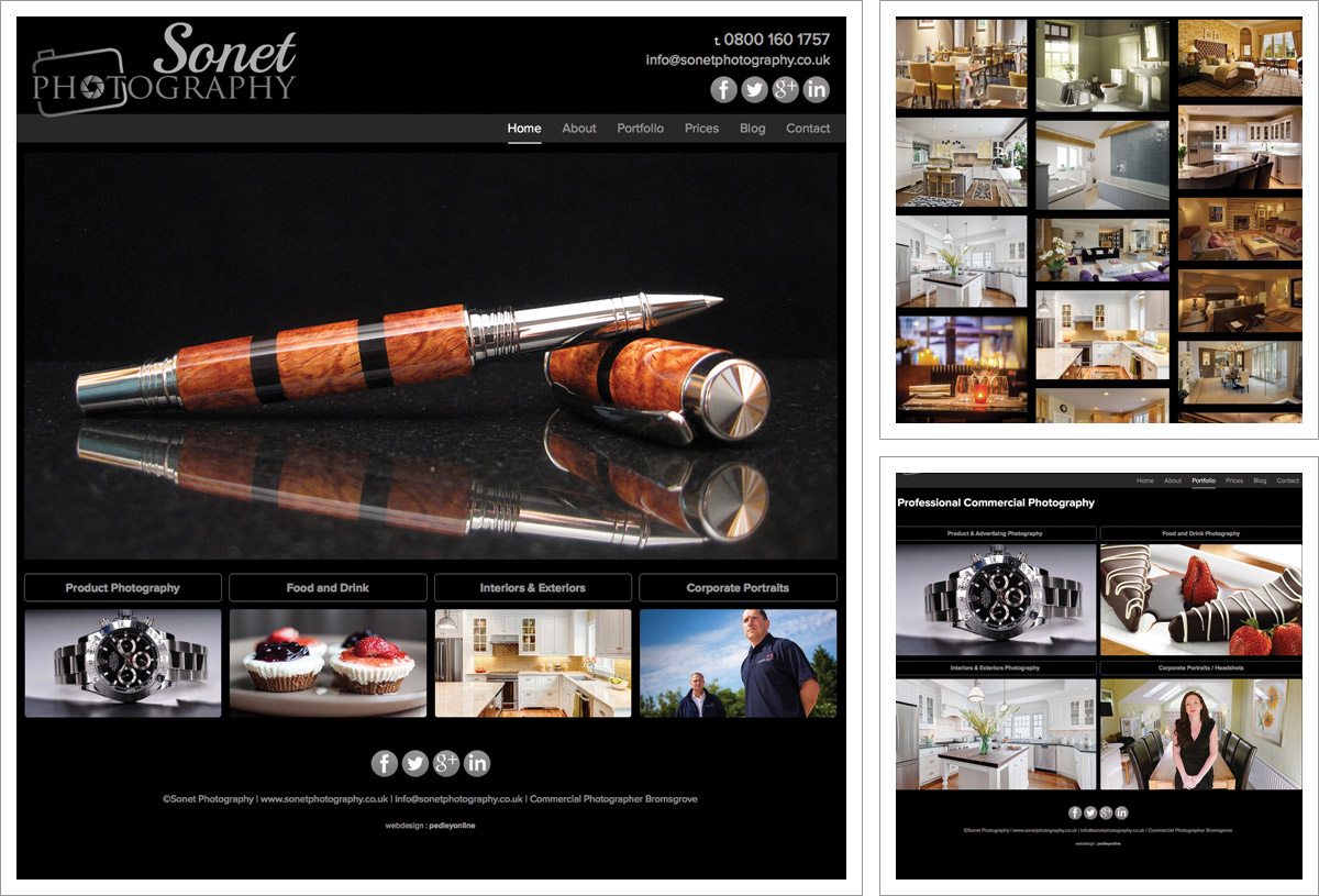Sonet Photography Website