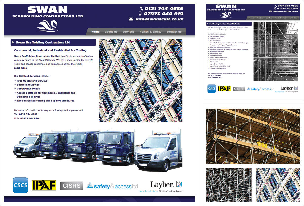 Swan Scaffolding Website