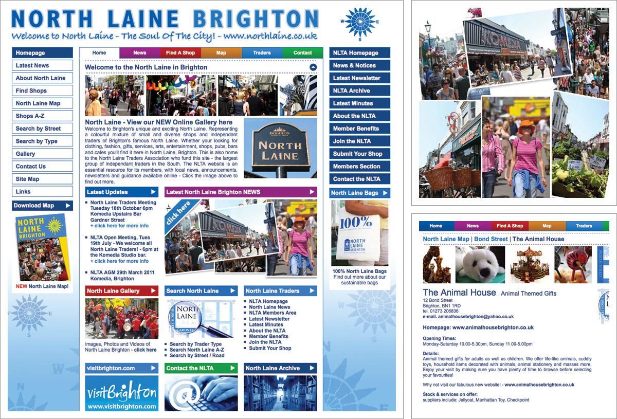 North Laine Website Brighton
