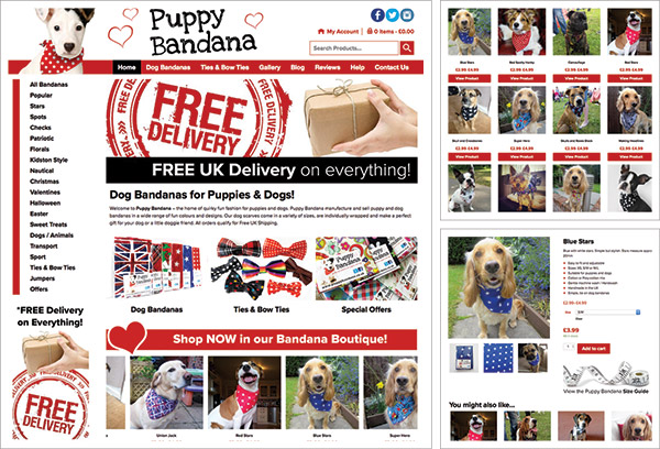 Puppy Bandana e-Commerce Website