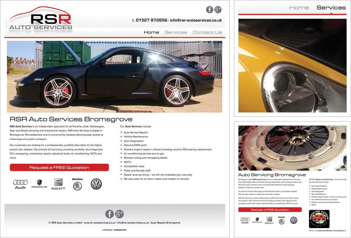 RSR Auto Services Website