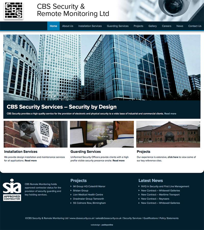 CBS Security New Website