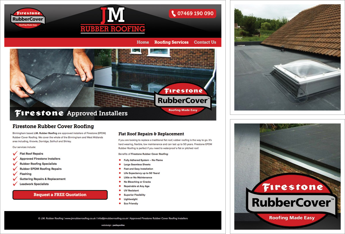 JM Rubber Roofing Website Birmingham