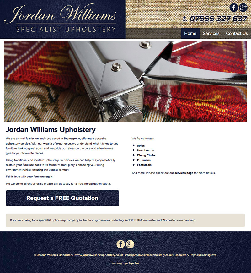 Jordan Williams New Bespoke Website